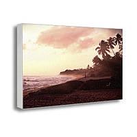 Настенная картина на холсте с принтом Райский остров (22001)