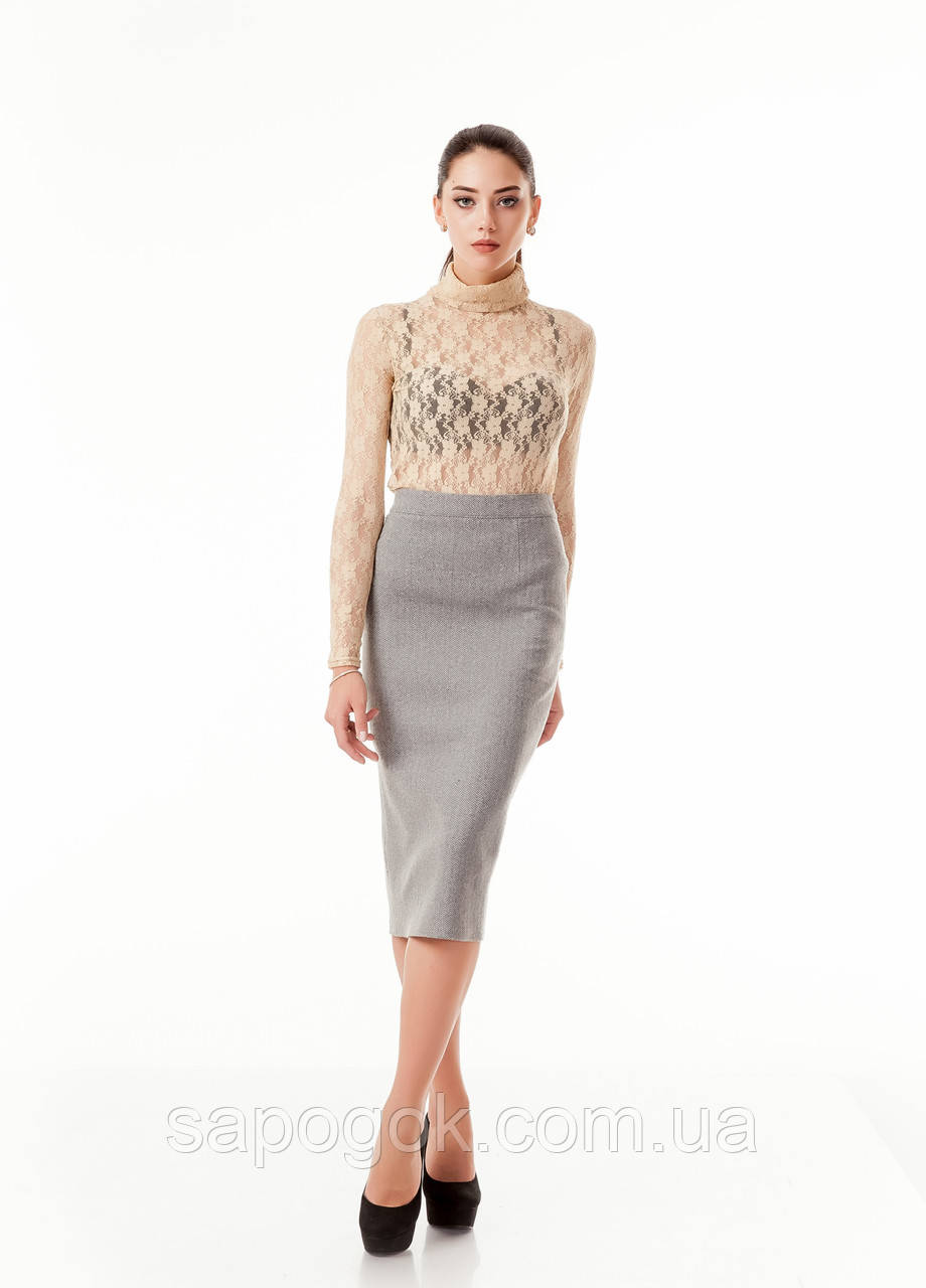 Утепленная женская юбка карандаш. Ю065