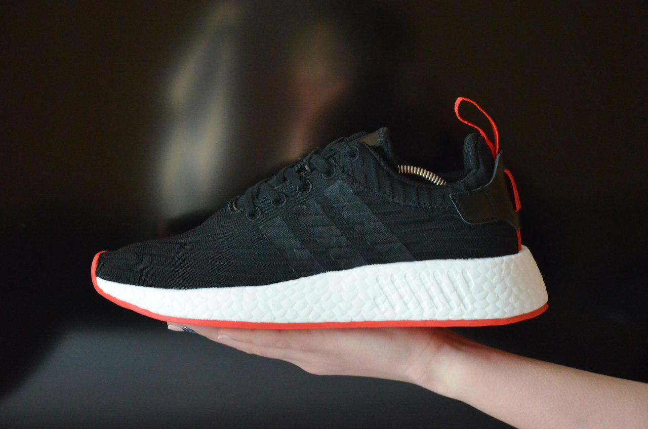 new products 9f16f b0323 Мужские Кроссовки Adidas Nmd R2 Pk Black/White/Red