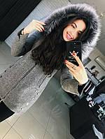 Женское пальто на молнии Карина евро-зима, фото 1