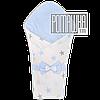 Демисезонный конверт плед 90х80 для выписки новорожденного осенний весенний одеялко осень весна 4320 Голубой 2