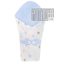 Демисезонный конверт плед 90х80 для выписки новорожденного осенний весенний одеялко осень весна 4320 Голубой 2, фото 1