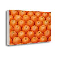 Настенная картина на холсте с принтом Новогодние мандарины (22002)