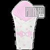 Демисезонный конверт плед 90х80 для выписки новорожденного осенний весенний одеялко осень весна 4320 Розовый 2
