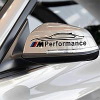 Наклейка на зеркала BMW Performance - черная