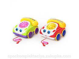 Каталка 0316 (48шт) машина - телефон, в кульке, 18-17см