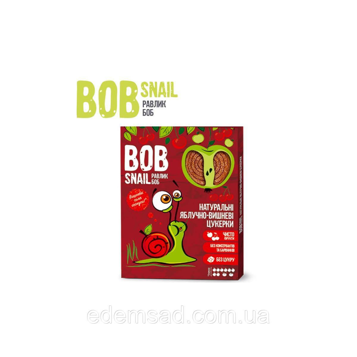 Натуральные конфеты BobSnail с яблоком и вишней, 60г