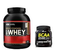 Протеин 100% Whey Gold Standard Optimum nutrition USA 2,27 кг + BCAA XPlode Olimp Labs 500g банан