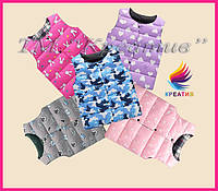 Жилет детский теплый разных цветов (пошив под заказ от 50 шт.)
