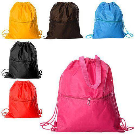 Сумка MK 0952-1 (120шт) рюкзак для обуви,2кор.руч,1отд.на затяжке,1отд.на  змейке,6цв,кул,39-33см
