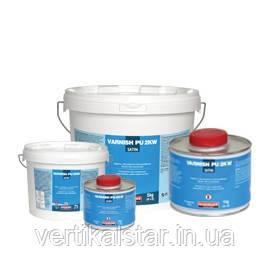 Специальное предложение! Лак полиуретановый защитный  на водной основе Ваниш ПУ 2К ВВ  (упаковка  5  килограмм)  матово-сатин