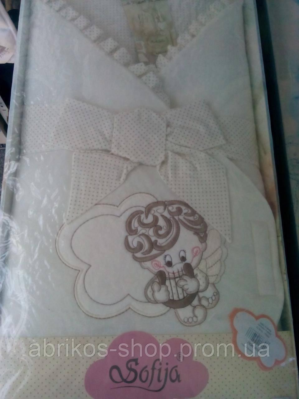 Уголок- одеялко для новорожденного ( Sofija)