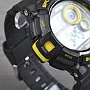 Часы Skmei Мод.1222 (подсветка: 7 цветов), черный-желтый, в металлическом боксе, фото 6