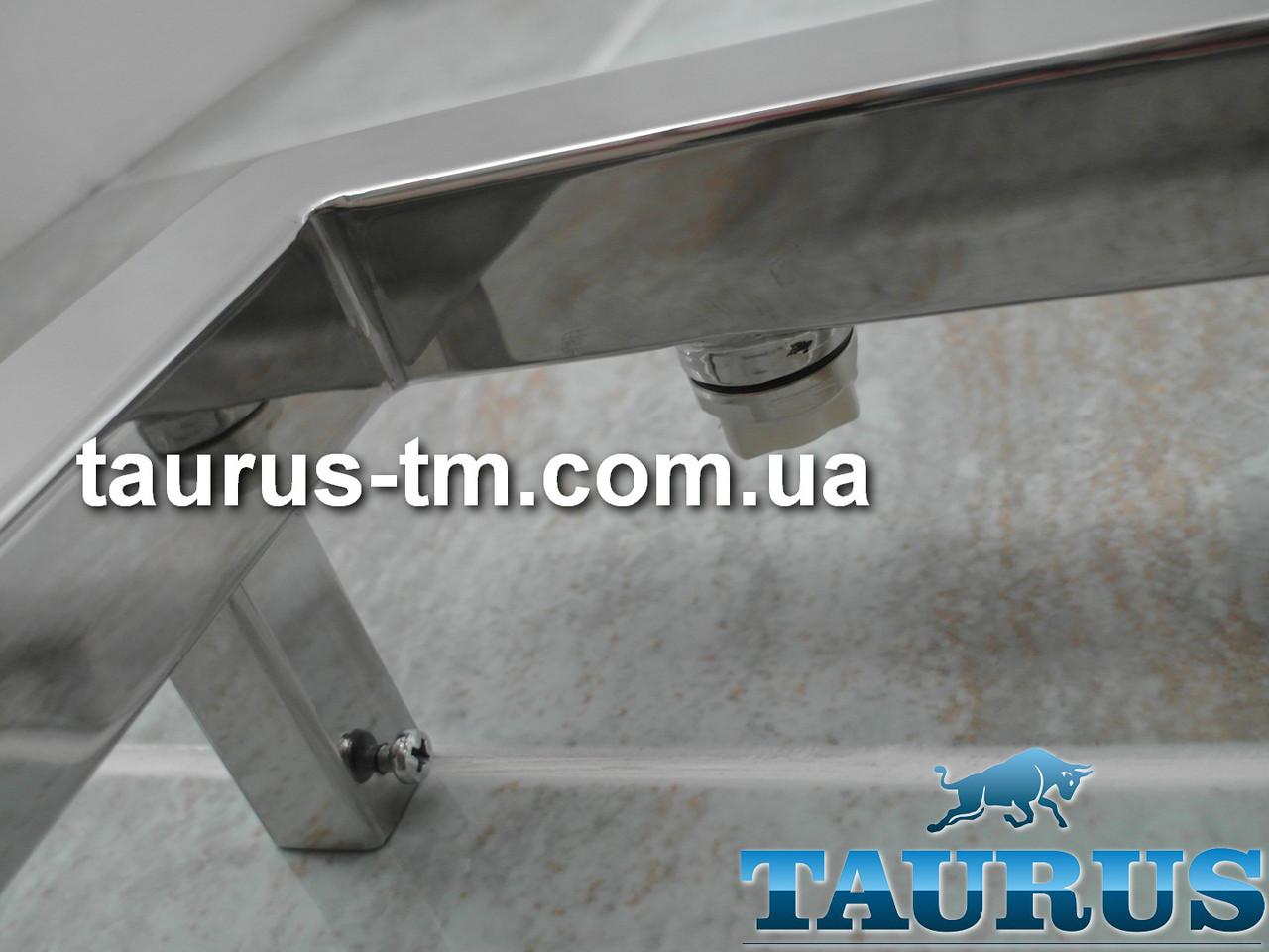 Квадратные крепления (ножки) для полотенцесушителя из нержавеющей стали TAURUS (опция)