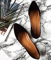 Туфли женские Marcella кожа и замша (чёрные, бежевые), фото 1