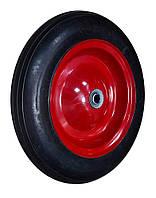 Колесо с металлическим диском налитой резине, 14'', ось 16х60мм   70-430
