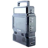 Портативный телевизор GDLITING GD-8086 с фонарем и радио на солнечной батарее