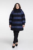 Стильное зимнее пальто-куртка весна/осень недорого большого размера Фабрика моды р. 48-72