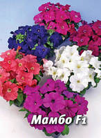 Семена петунии Мамбо F1, 100 сем., многоцветковая смесь
