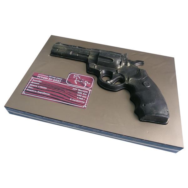 Шоколадна фігурка Солодкий Світ 160г Револьвер чорн.