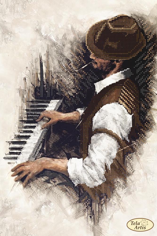 ТА-334. Схема для вышивки бисером Джаз. Пианино