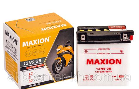 Мото аккумулятор MOTO MAXION 12N 5-3B (12V, 5A)