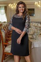 Платье с отделкой гипюром, с 48-58 размер, фото 1