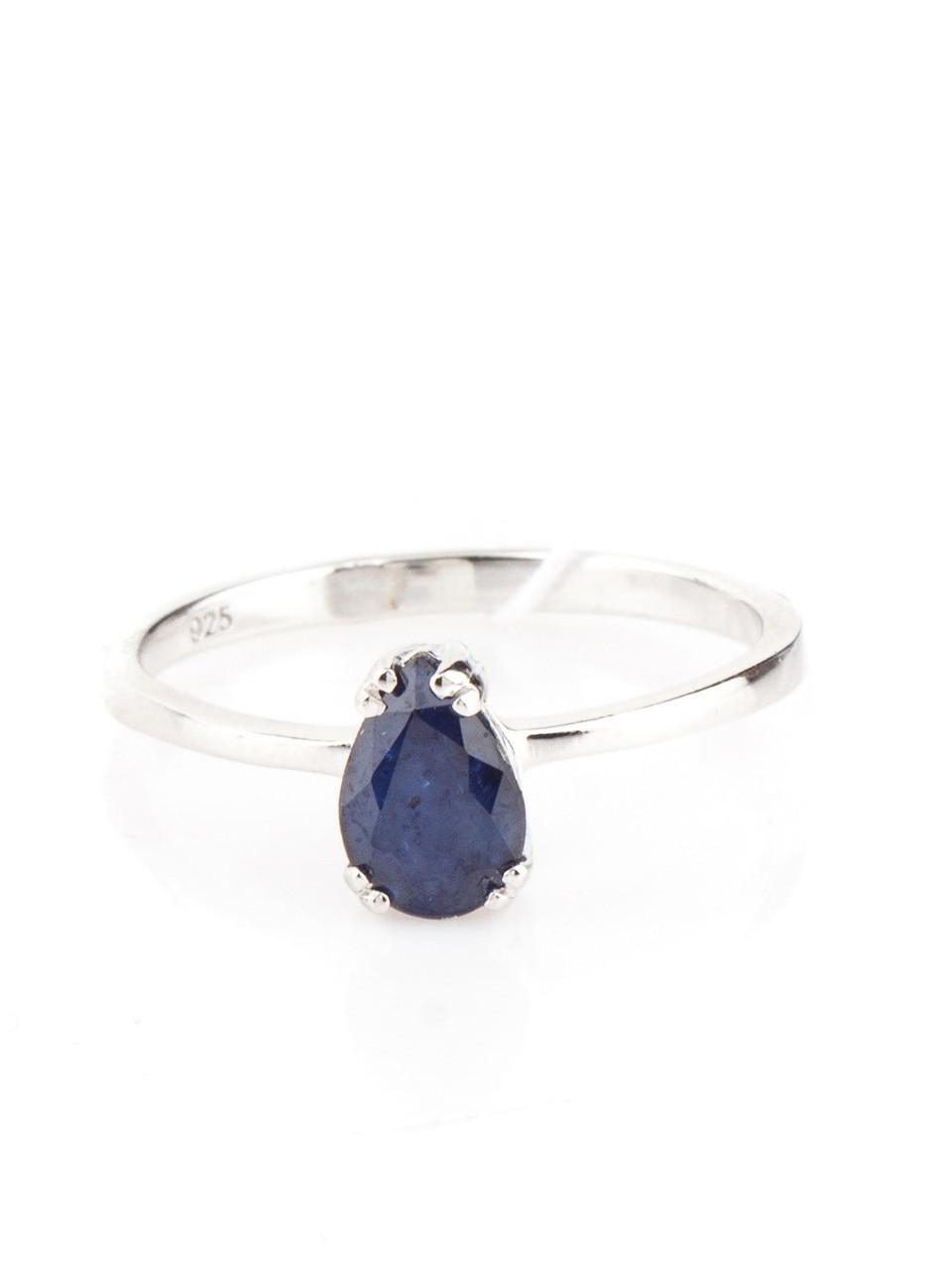 Кольцо серебряное с сапфиром 1008 (р.16.5)