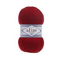 Пряжа Alize Lanagold 800 56 красный