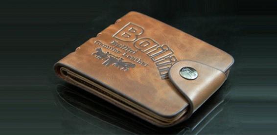 Мужской кошелек портмоне Bailini с вырезами