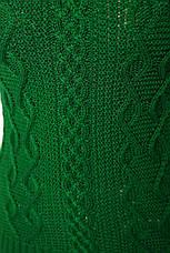 Классический женский свитер с ажурной вязкой большого размера, фото 2