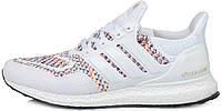 Мужские кроссовки Adidas Ultra Boost Multicolor White (Адидас Ультра Буст) белые