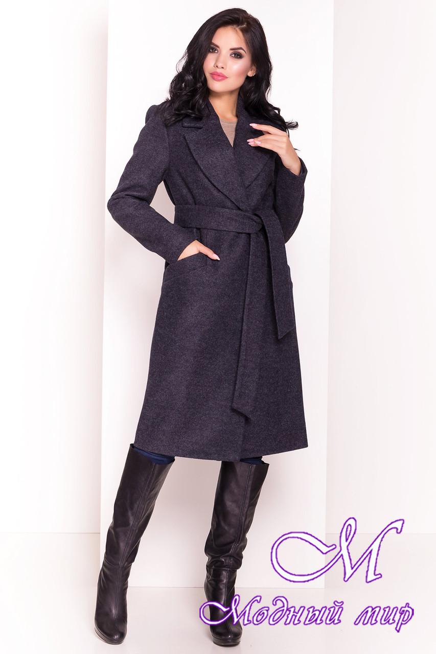 """Темно-синее весеннее пальто прямого кроя (р. XS, S, M, L, XL) арт. """"Джулс 4398"""" - 21154"""