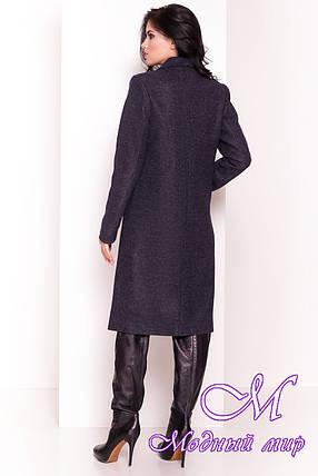"""Темно-синее весеннее пальто прямого кроя (р. XS, S, M, L, XL) арт. """"Джулс 4398"""" - 21154, фото 2"""