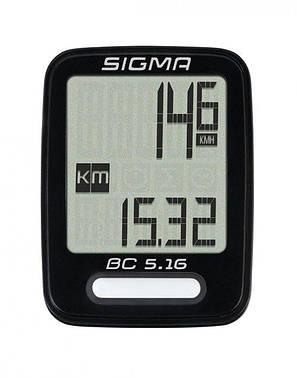 Велокомпьютер Sigma BC 5.16 проводной (LIS516), фото 2