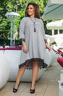 Платье с кружевом А-силуэта, с 48-54 размер, фото 1