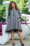 Женское платье с кружевом А-силуэта, с 48-54 размер, фото 1