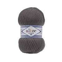 Пряжа Alize Lanagold 800 348 темно серый