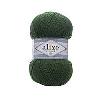 Пряжа Alize Lanagold 800 118 зеленая трава