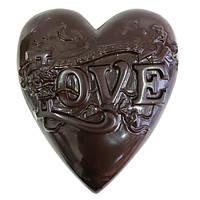 Шоколадна фігурка Солодкий Світ 500г Сердце Love чорн.