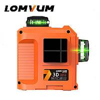 Лазерный уровень (нивелир) Lomvum 3D (12 линий, красный луч)