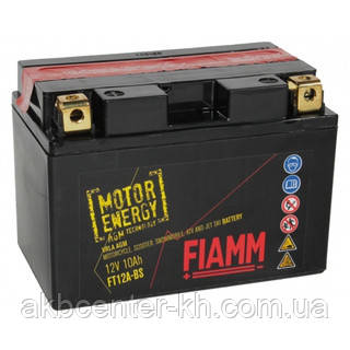 Мото аккмуляторы AGM FIAMM FT12A-BS