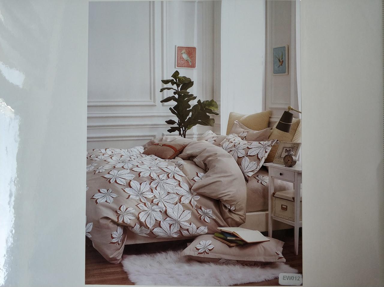 Постельное белье полисатин двуспальный евро ELWAY EW012