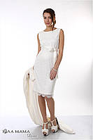 Изысканное вечернее платье для беременных Bohemia, молочного цвета, фото 1