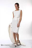 Изысканное вечернее платье для беременных Bohemia, молочного цвета, 44 размер, фото 1