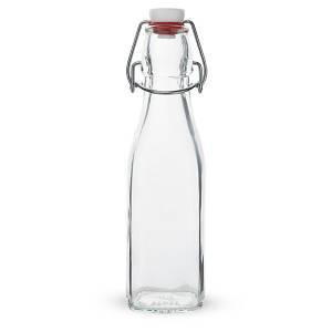Бутылка с крышкой бугельной 250 мл. стеклянная, прозрачная Swing, Bormioli Rocco