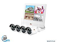 Беспроводной комплект видеонаблюдения Partizan Outdoor Wireless Kit LCD 2MP 4xIP