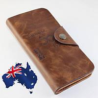 Кошелек мужской бумажник визитница Bailini длинный 501 без вырезов
