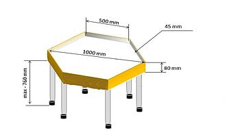 Шестиугольный стол для песочной анимации