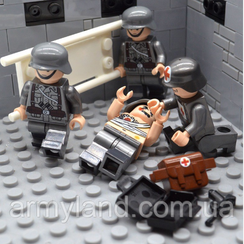 Военные фигурки,Набор Германия мед. отряд, конструктор , аналог лего, BrickArms